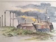 Esbjerg havn (Indrammet 34x44)